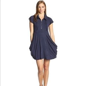 Kenzie Drapey French-Terry Dress